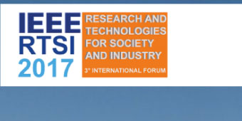 IEEE - RTSI 2017 - 3° International Forum on Research and Technologies for Society and Industry