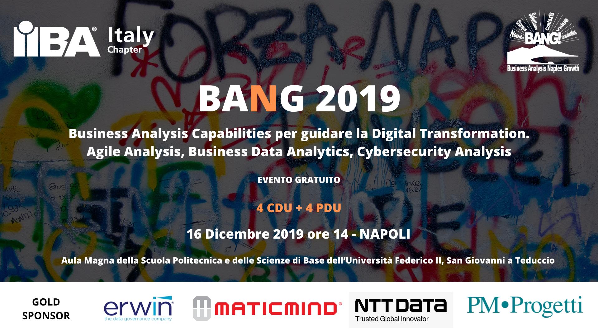 BANG 2019 Business Analysis Capabilities per guidare la Digital Transformation