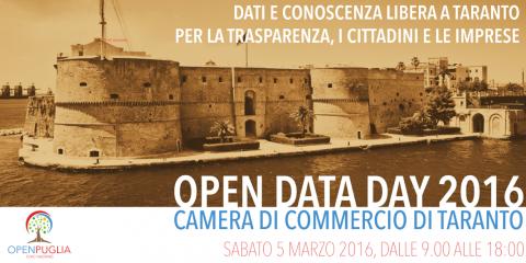 Open Data Day 2016 - Dati e conoscenza libera a Taranto per trasparenza, cittadini e imprese
