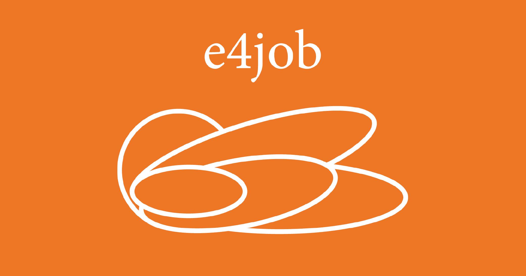 sfondo arancione - logo e4job