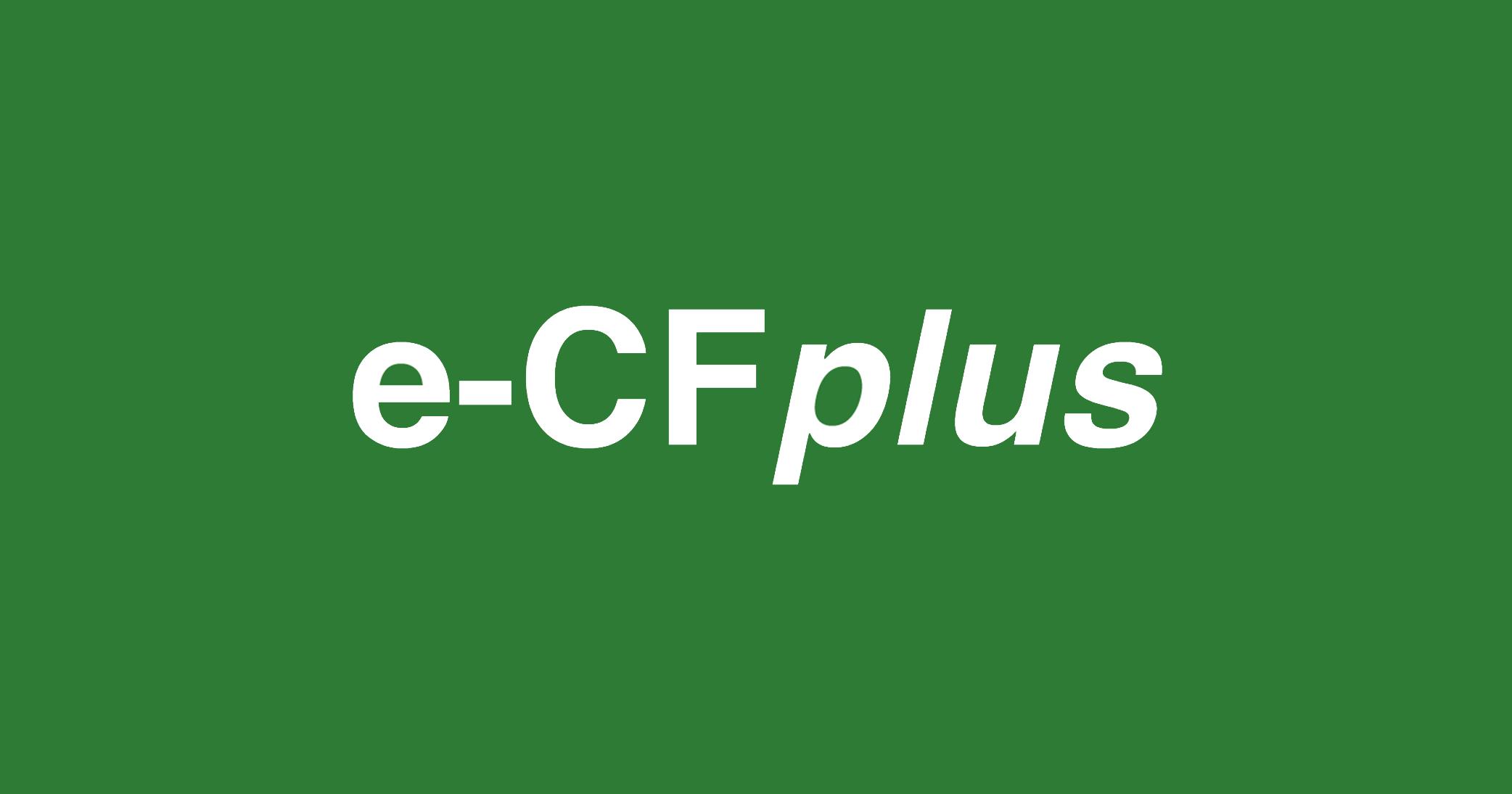 sfondo verde - logo e-CF plus