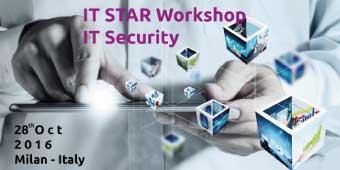 28 Ottobre IT STAR Workshop on IT Security