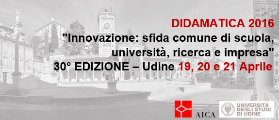 Didamatica 2016. Diamo inizio all'evento con la call for paper